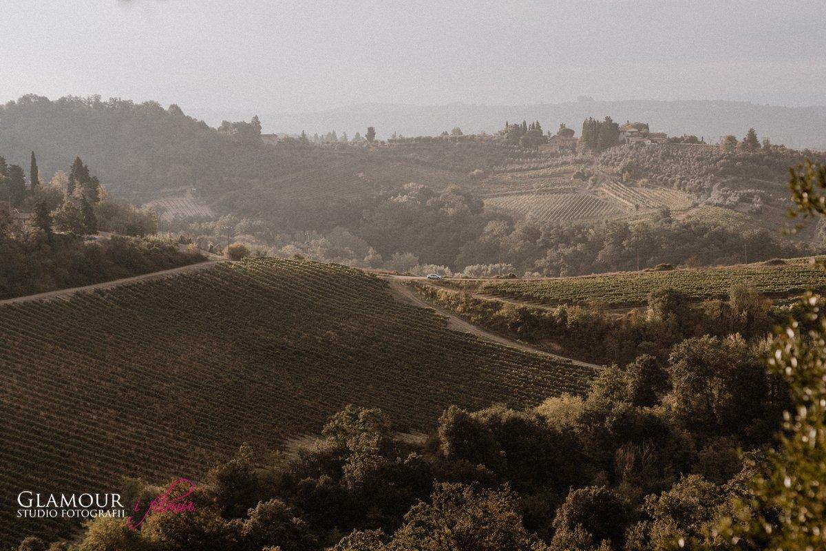 Krajobrazy w Toskanii Włochy