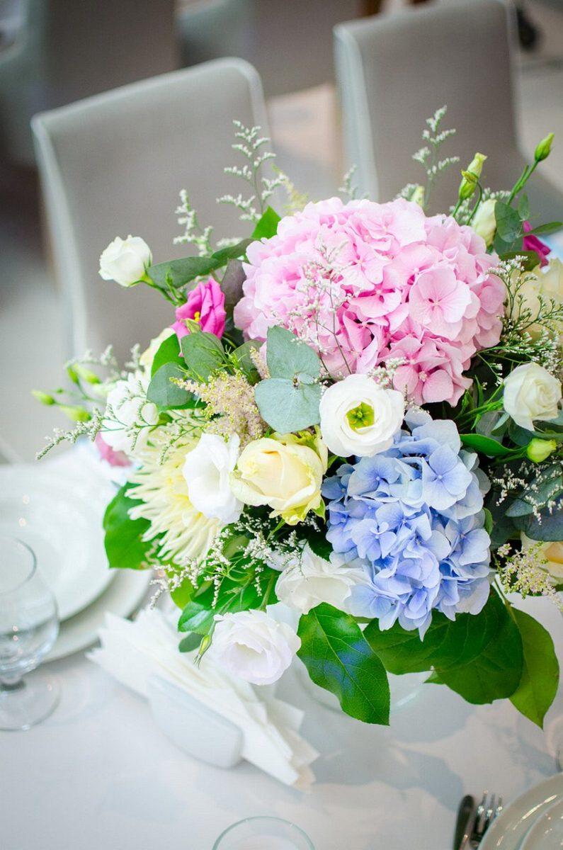 dekoracje ślubne w kolorze