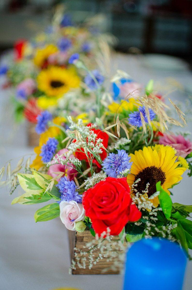kolorowe kwiaty na ślub i wesele